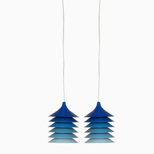 Blue Duett Pendants by Bent Gantzel Boysen for Ikea, 1970s, Set of 2