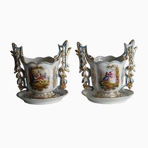 Pots de Fleur Vieux Paris Antique, Set de 2