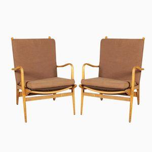 Italian Beech Armchairs from Cerutti, 1950s, Set of 2