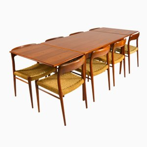 Mid-Century Danish Teak Dining Set by Niels O. Møller for J.L. Møller