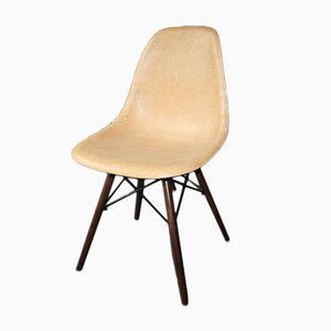 Amerikanischer Ockergelber DSW Chair von Charles & Ray Eames für Herman Miller, 1960