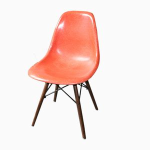 American Red Orange DSW Chair by Charles & Ray Eames for Herman Miller, 1960