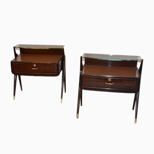 Italian Rosewood Night Stands, Set of 2