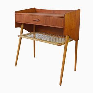 Dänischer Teak & Eichenholz Nachttisch, 1960er