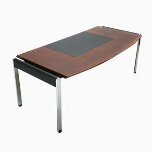 Sapele & Chrome Executive Desk from Knoll, 1980s