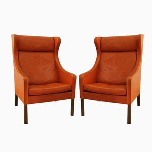 Modell 2204 Sessel von Borge Mogensen für Fredericia, 1960er, 2er Set