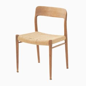 Vintage Model 84 Teak & Cord Dining Chair by N.O Mollers for J.L Mollers
