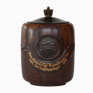 Danish Ceramic Jar by Arne Bang, 1942
