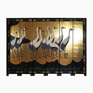 Gold Leaf Folding Standing Screen, 1950s