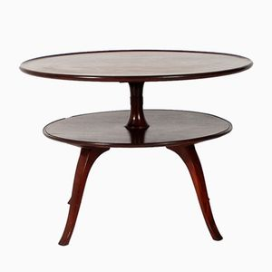 Circular Two-Tier Coffee Table by Fritz Henningsen