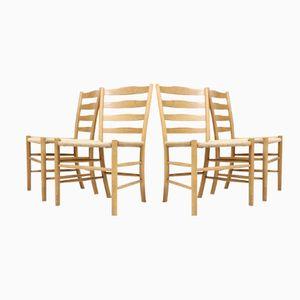 Kirchenstühle von Kaare Klint für Fritz Hansen, 4er Set