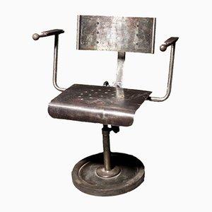 Industrial Polish Metal Armchair, 1950s
