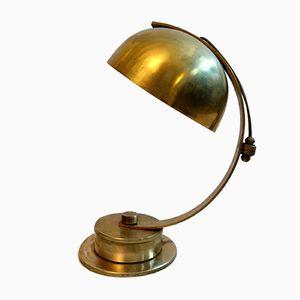 Drehbare Art Deco Messing Tischlampe, 1930er