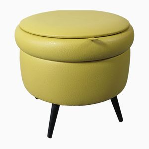 Vintage Yellow Pouf from FM Mobler, 1950s