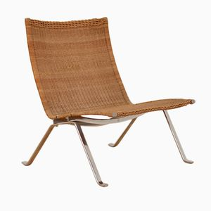 PK22 Lounge Chair by Poul Kjaerholm for E Kold Christensen, 1950s