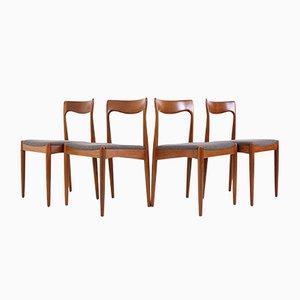 Chaises d'Appoint en Teck par Arne Vodder pour Vamo Møbelfabrik, 1960s, Set de 4