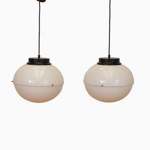 Italienische Modell 4022 Deckenlampen von Luigi Bandini Buti für Kartell, 1960er, 2er Set