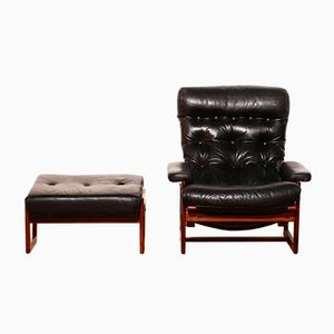 Swedish Lounge Chair and Ottoman by Lennert Bender for Ulferts