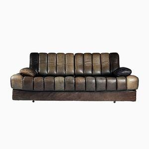 fauteuil mid century en cuir et peau de mouton scandinavie 1950s en vente sur pamono. Black Bedroom Furniture Sets. Home Design Ideas