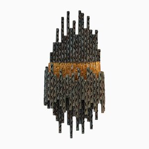 Brutalist Sculptural Wall Lamp by Marcello Fantoni