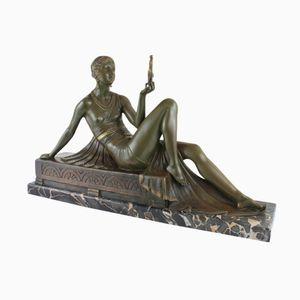 Französische Art Deco Skulptur von Joe Descomps für Etling, 1920er