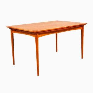 Danish Rectangular Teak Dining Table by Arne Hovmand Olsen for Skovmand & Anderson, 1950s