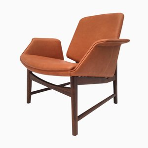 Danish Rosewood U0026 Leather Chair By Hans Olsen, 1950s
