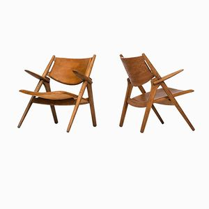CH-28 Easy Chair by Hans Wegner for Carl Hansen & Søn, Set of 2