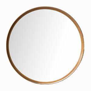 Oak Mirror by Uno & Östen Kristiansson for Luxus