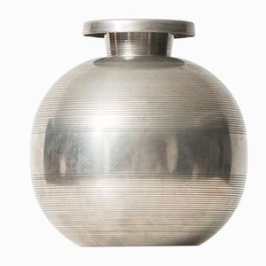Swedish Pewter Vase by Sylvia Stave for C.G. Hallberg