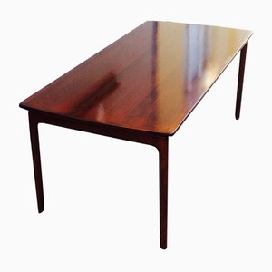 Danish Mahogony Coffee Table with Floating Top by Ole Wanscher for P. Jeppesen, 1960s