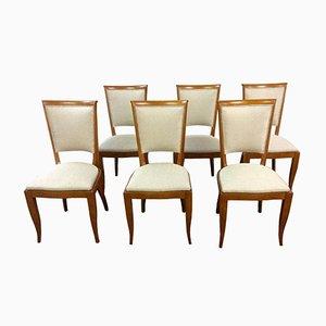 Chaises art d co cole de la haye par h fels pour l o v for Salle a manger 1930