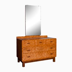 British Art Deco Maple Dressing Table, 1930s