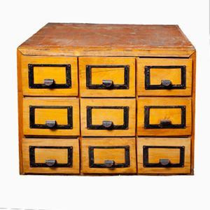 Vintage Apothecary Chest of Drawers, 1920s
