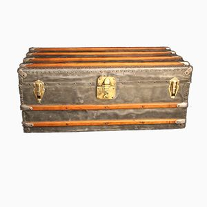 Vintage French Zinc Steamer Trunk