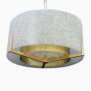 Mid-Century Lucite & Metal Ceiling Light, 1970s