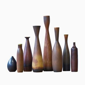 Swedish Vases by Carl Harry Stålhane for Rörstrand, 1950s, Set of 8
