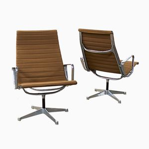 American EA116 Chrome Armchairs by Charles & Ray Eames for Herman Miller, 1950s, Set of 2