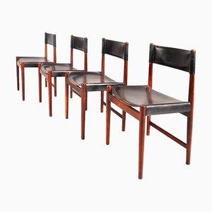 Dänische Esszimmerstühle von Arne Vodder für Sibast, 1950er, 4er Set