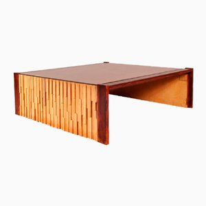 Large Brazilian Hardwood Coffee Table by Percival Lafer, 1960s