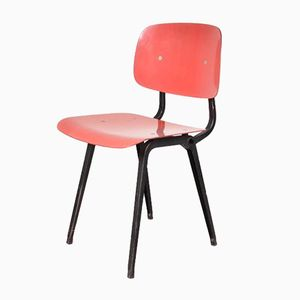 Red Revolt Chairs by Friso Kramer for Ahrend de Cirkel, 1950s, Set of 4