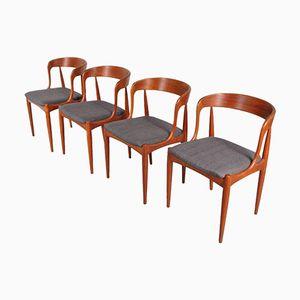 Danish Dining Chairs by Johannes Andersen for Uldum Mobelfabrik, 1950s, Set of 4