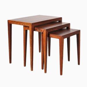 Tables Gigogne par Severin Hansen pour Haslev Mobelsnedkeri, Danemark, 1960s