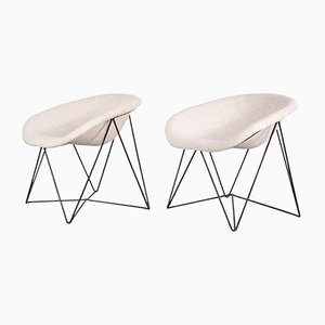 Czech Easy Chairs, 1950s, Set of 2