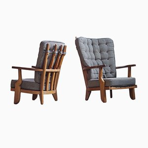 Romeo & Juliet Lounge Chairs by Guillerme & Chambron, Set of 2