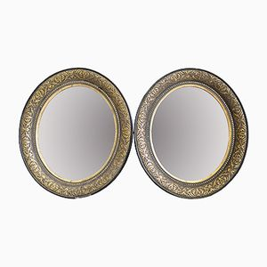 Faceted Biedermeier Stucco Wall Mirrors, 1830s, Set of 2