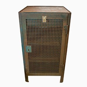 Vintage Square Perforated Workshop Cabinet from Hahn+Kolb