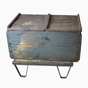Antique Industrial Wooden Box
