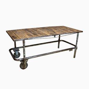 Vintage Workshop Table on Castors