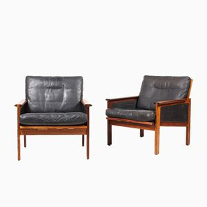 Mid-Century Capella Armchairs by Illum Wikkelsø for Eilersen, Set of 2